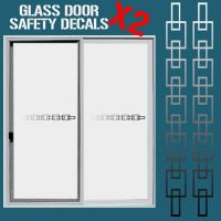 GLASS DOOR HAZARD PROTECTION DECAL STICKER SET SAFETY