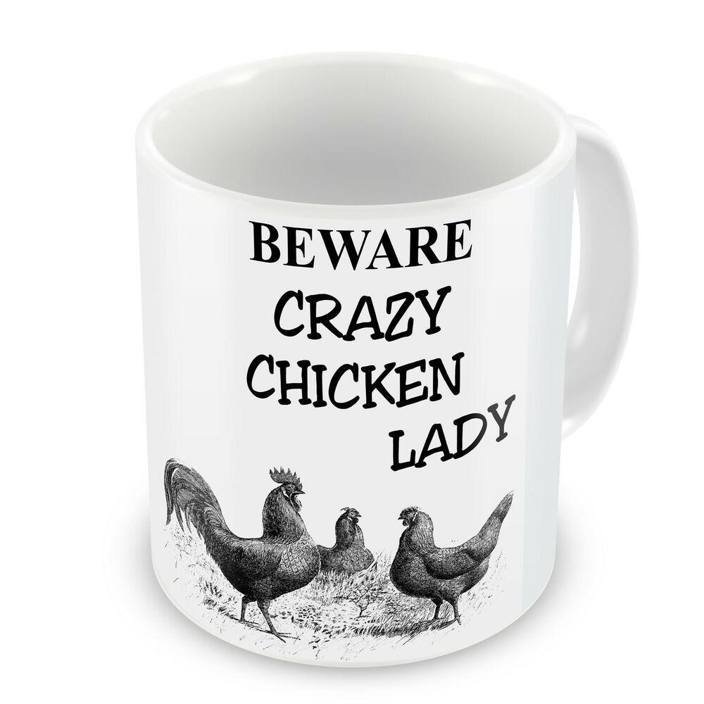 Crazy Chicken Lady Novelty Gift Mug EBay