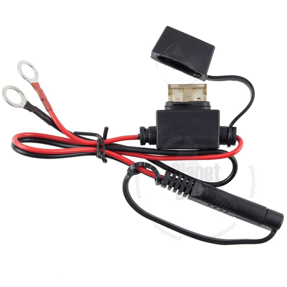 medium resolution of motorcycle battery terminal ring connector harness 12 volt