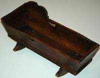 ANTIQUE PRIMITIVE BABY DOLL CRIB WOODEN DOVETAIL HANDMADE ...