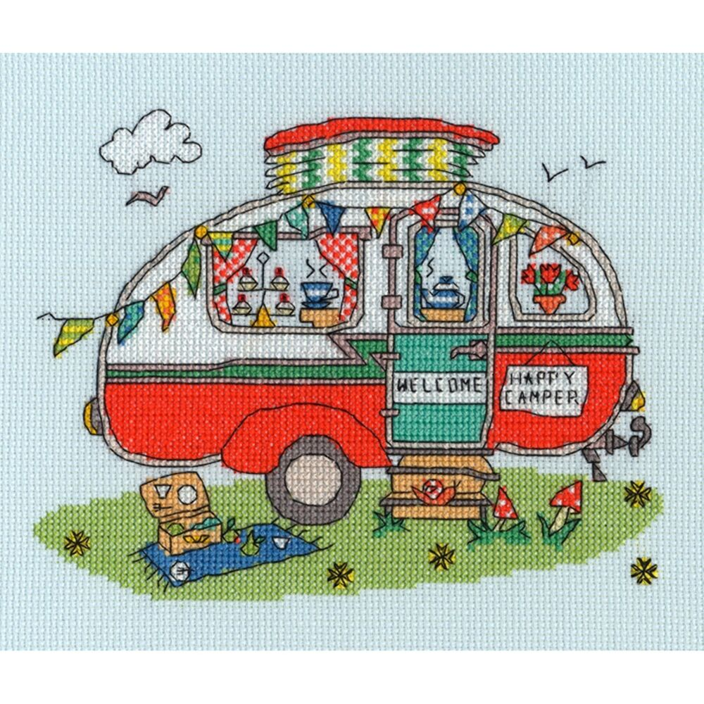 BOTHY THREADS SEW DINKY CARAVAN BY AMANDA LOVERSEED CROSS