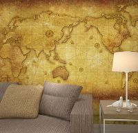 Vintage Old World Map Crafter Wallpaper Full Wall Mural ...