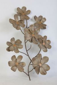 CHERRY BLOSSOM METAL FLORAL WALL ART FOR HOME & OFFICE