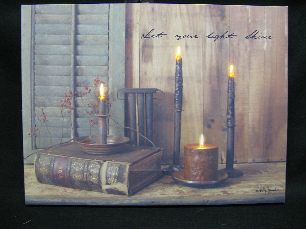 Shine Your Light Lighted Canvas Wall Decor Sign Billy
