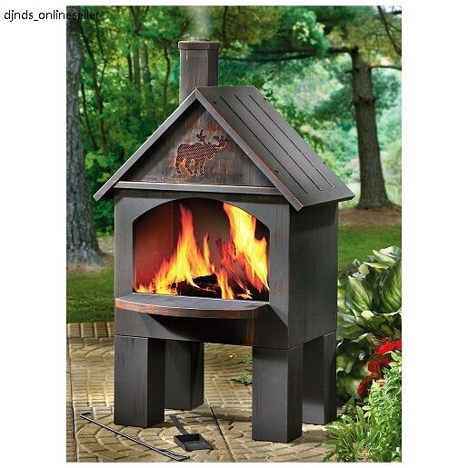 Cooking Chiminea Outdoor Fire Grill Fireplace Firepit Pit bbq Stove Pizza Oven  eBay