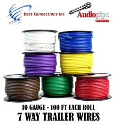 details about 7 way trailer wire light cable for harness led 100ft each roll 10 gauge 7 rolls [ 1000 x 1000 Pixel ]
