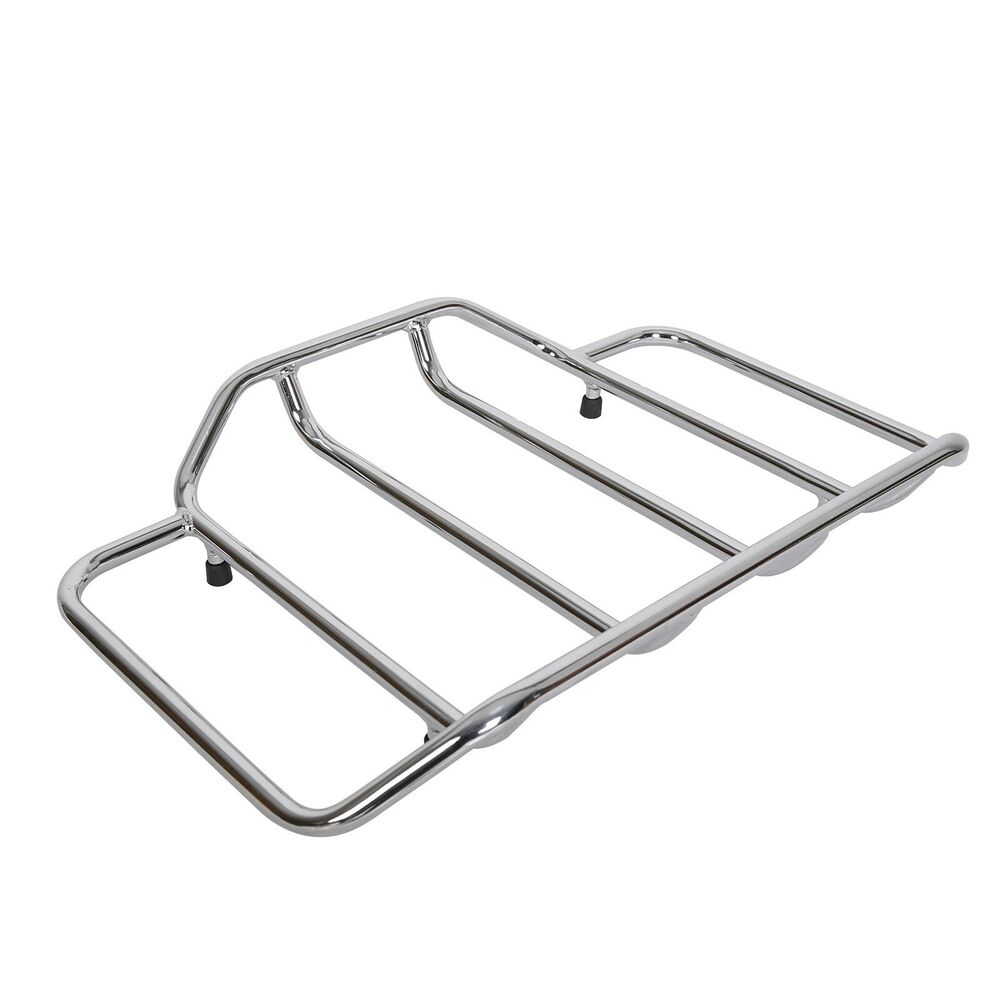 Chrome Tour Pack Pak Top luggage Rack For Harley Touring