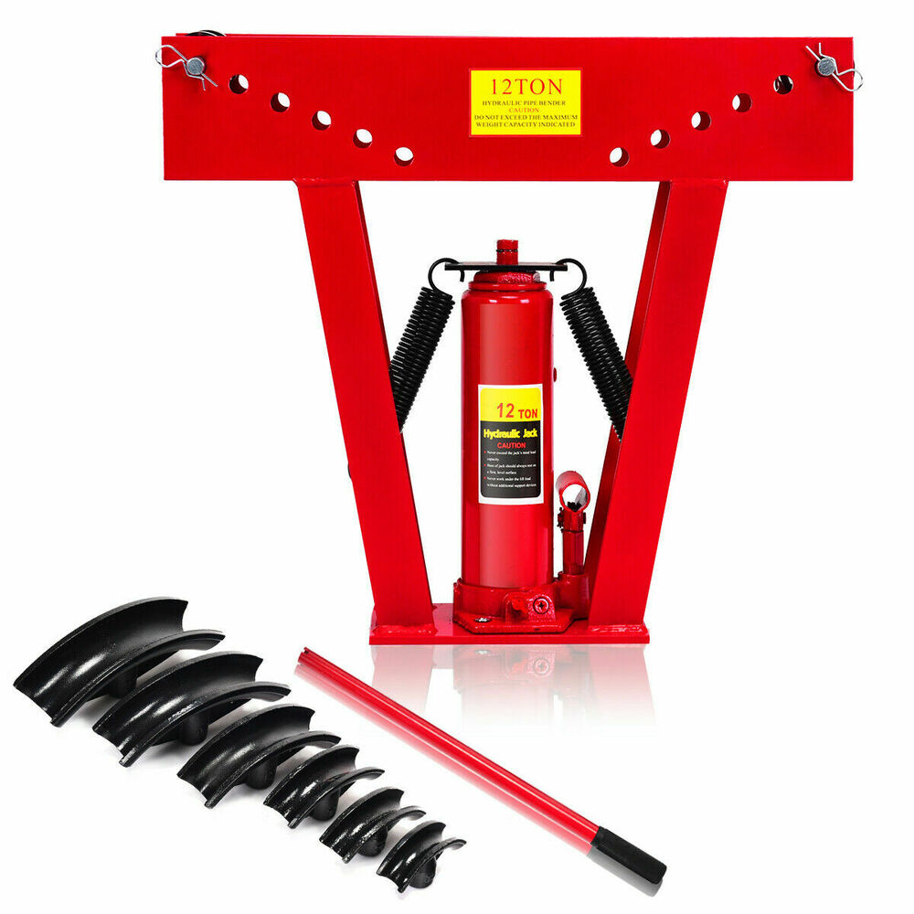 12 Ton Heavy Duty Hydraulic Pipe Bender Tubing Exhaust