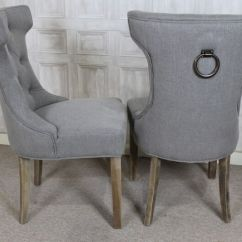 Grey Parsons Chair Styles French Style Upholstered Dining In Stone With Button Back And Ring Detail | Ebay