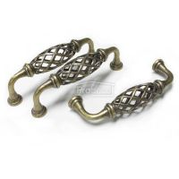 Antique Bronze Birdcage Vintage Kitchen Cabinet Pull