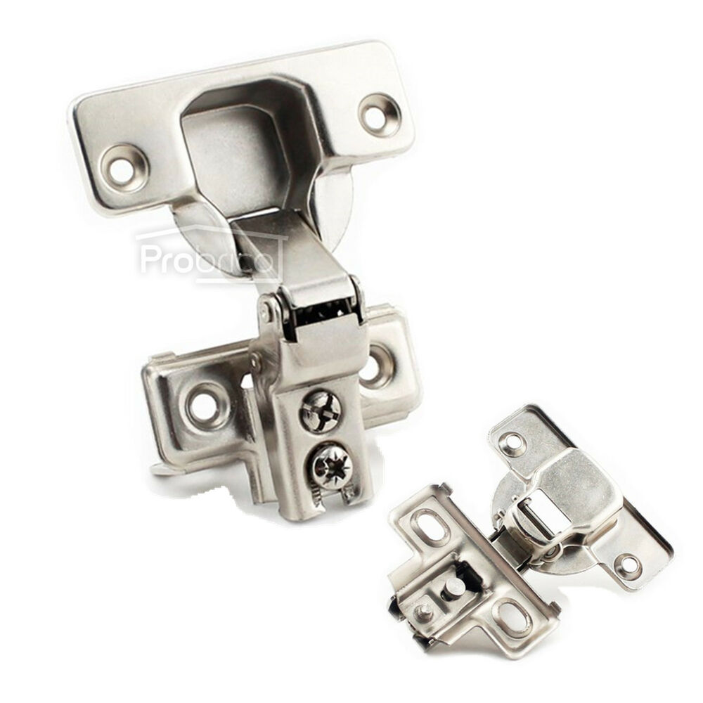Face Frame Kitchen CabinetCupboard Door Hinges Half Overlay Flush Hinges Lot  eBay