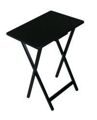 Folding Wooden TV Tray Table - Black / Folding Furniture ...
