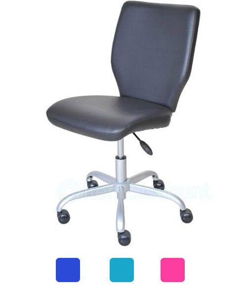 Armless Mid Back Office Chair Computer Desk Task Student