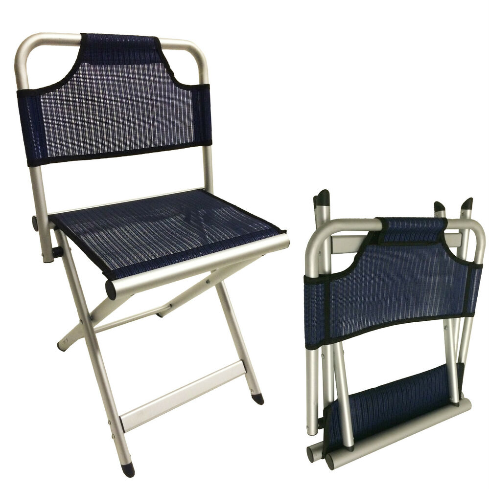 fishing chair small kitchen tables and chairs for sale large camping aluminium folding stool - with backrest caravan | ebay