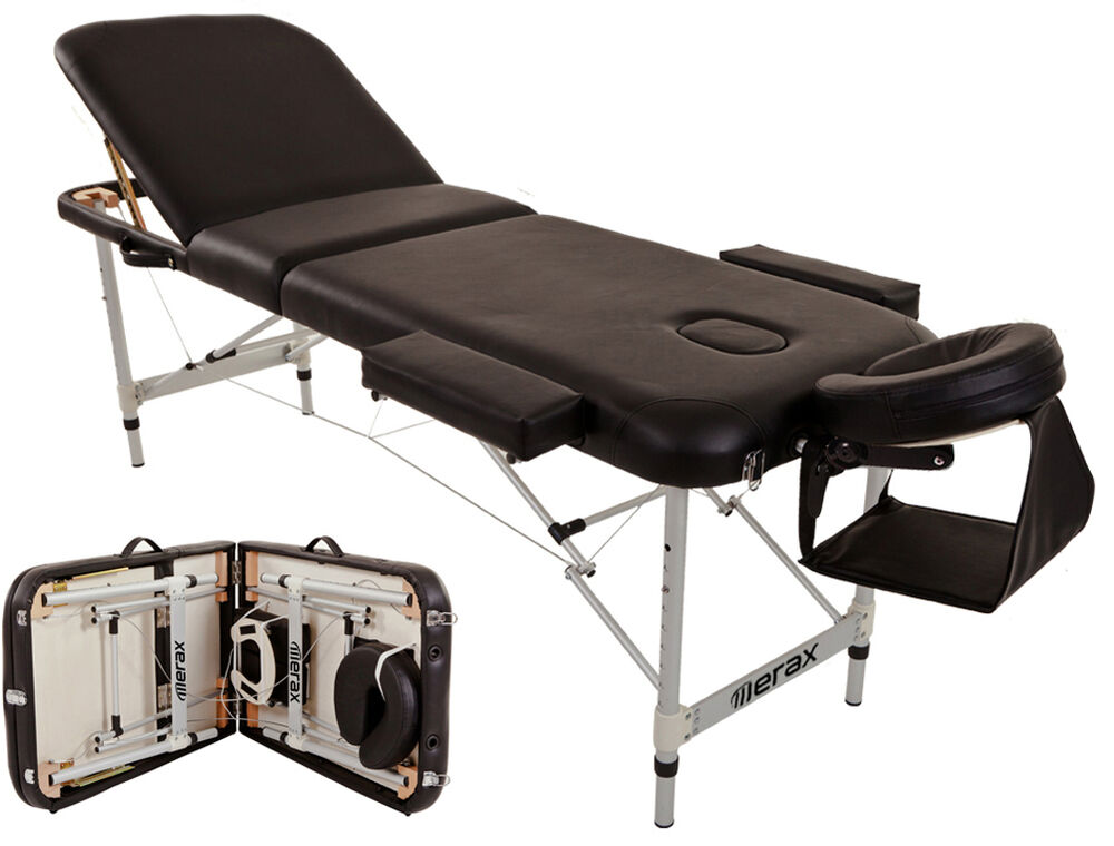 Merax Aluminium 3 Section Portable Massage Table Facial