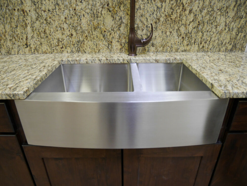 33 Stainless Steel Farmhouse Front Apron Double Bowl