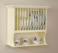Traditional Buttermilk Wall Mounted Plate Rack & Shelf