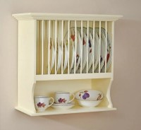 Traditional Buttermilk Wall Mounted Plate Rack & Shelf ...