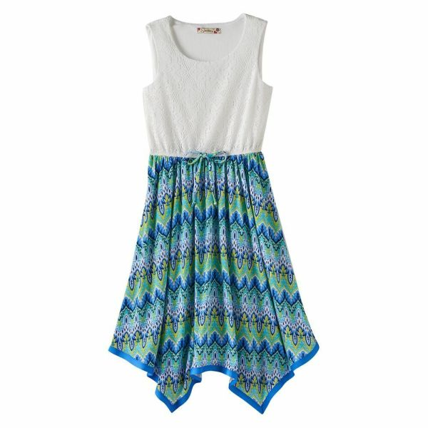 Girls Size 8 Speechless Turquoise Lime White Lace Four
