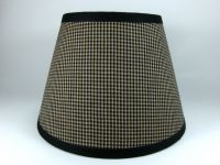 Country Primitive Black Mini Check Homespun Fabric