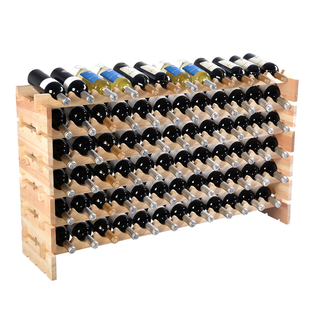 6 Bottle Wooden Wine Rack New 72 Bottle Wood Wine Rack Stackable Storage 6 Tier