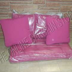 Gray Tufted Chair Red And Black Office Frontgate Outdoor Bench Loveseat Sofa Cushion 4 Pillow Fushia Pink 44x24 | Ebay