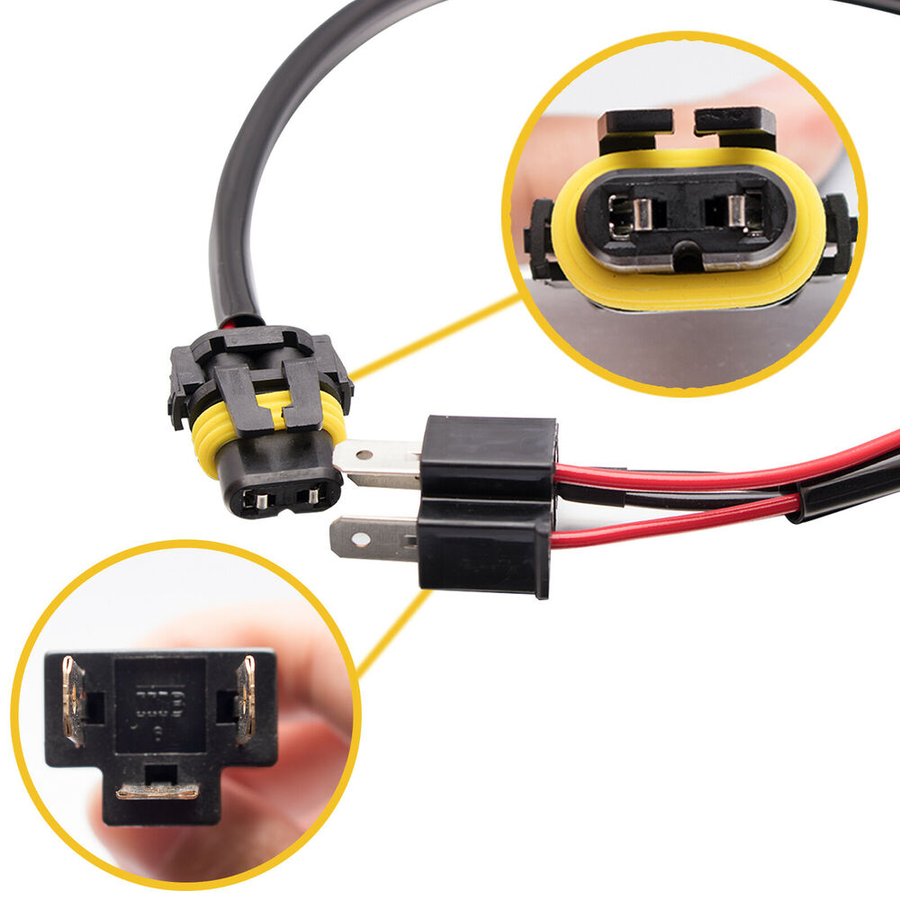 hight resolution of details about 2x 9006 hb4 to h4 9003 wire harness socket for retrofit hid ballast conversion