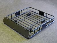 Universal Black Steel Cargo Carrier Roof Rack Basket ...