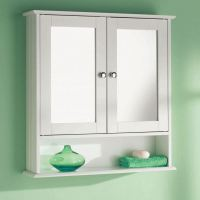 DOUBLE MIRROR DOOR WOODEN INDOOR WALL MOUNTABLE BATHROOM ...