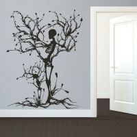 Halloween Skeleton Wall Decal Removable Vinyl Tree of Life ...