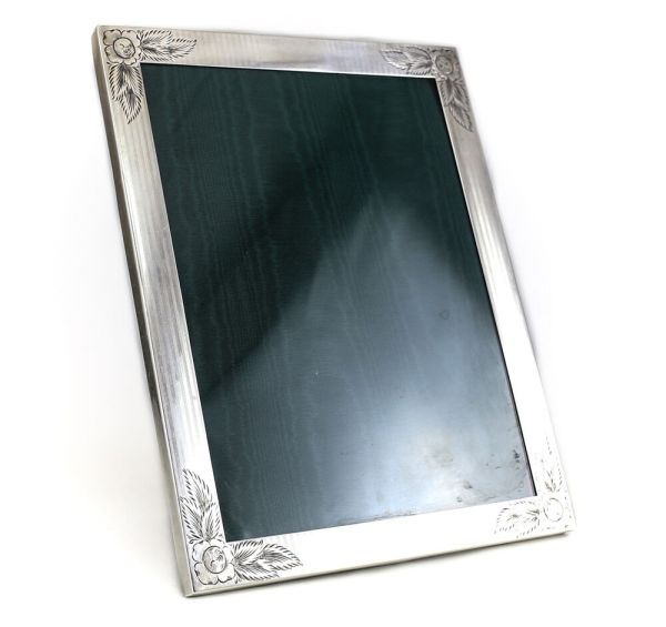 Watrous Mfg Sterling Silver Frame 8.5 X 11.5 Hand Engraved Floral C1920