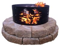 SKULL FIRE RING, FIRE PIT, OUTDOOR LIVING, SKULLS, OUTDOOR