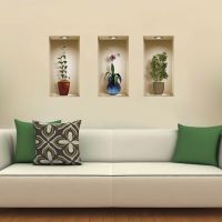Set 3 Art Wall Stickers Magic 3D Picture Vinyl Removable