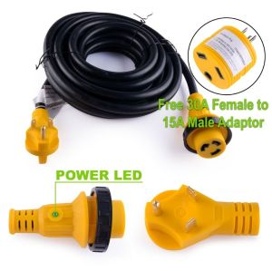 25 foot 30 amp RV Extension Cord Power Supply Cable for Trailer Motorhome Camper | eBay