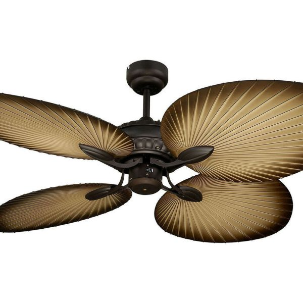 Tropical Leaf Ceiling Fan with Light