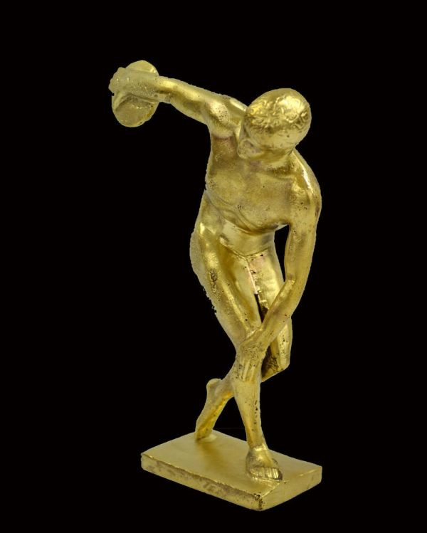 Ancient Greek Discus Thrower Sculpture