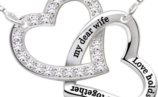 New Sterling Silver Necklace Gift For Her I Love You Wife