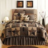 BINGHAM STAR PATCHWORK TWIN BED QUILT By VHC/COUNTRY STAR ...