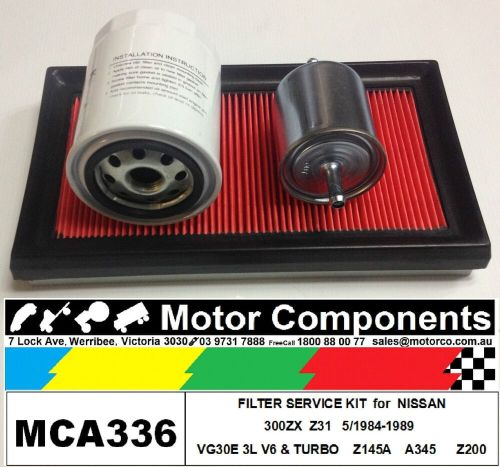 small resolution of details about filter kit oil air fuel for nissan 300zx z31 vg30e 3l v6 turbo 5 1984 1989