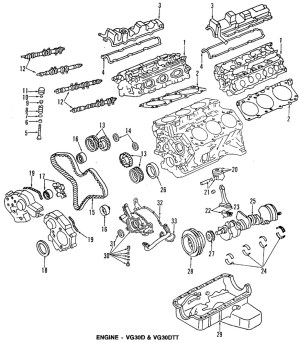 Genuine 19901996 Nissan 300ZX Valve Cover Gasket 13270
