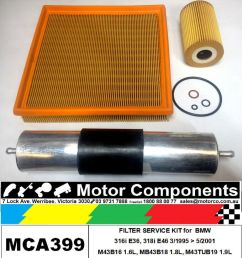 details about filter kit oil air fuel for bmw 316i e36 m43b16 1 6l m43b18 1 8 e46 m43tub19 1 9 [ 922 x 1000 Pixel ]