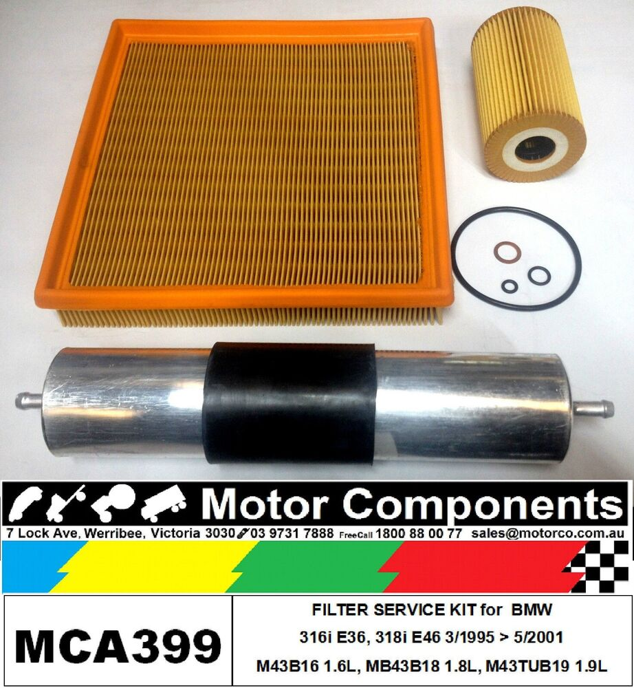medium resolution of details about filter kit oil air fuel for bmw 316i e36 m43b16 1 6l m43b18 1 8 e46 m43tub19 1 9