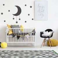 MOON AND STARS NURSERY BABY'S WALL STICKER KIDS ROOM DECAL ...