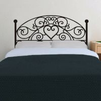 Headboard Wall Decal Bed post Vinyl Master Couple Room Art