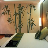 Bamboo Tree Wall Decal Inspiration Vinyl Living Room ...