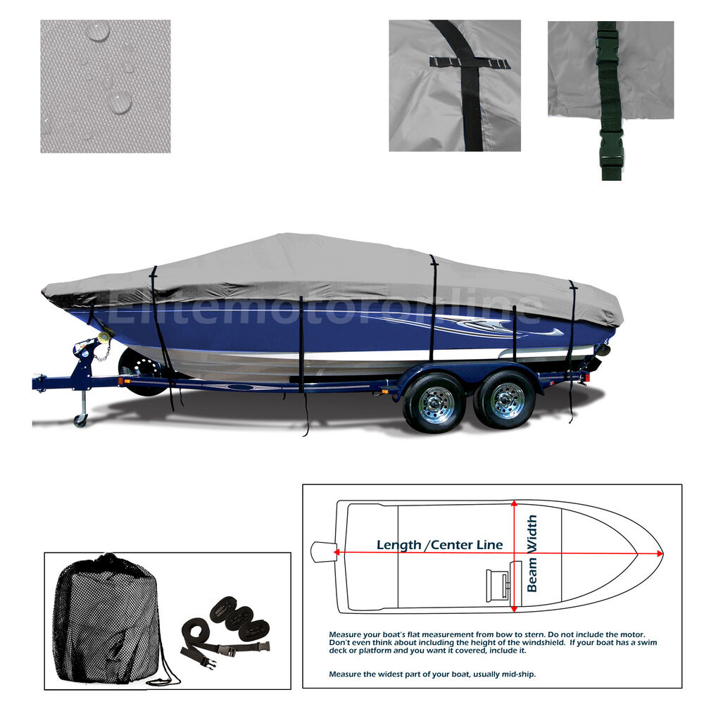 hight resolution of details about lund 1775 pro v all weather trailerable fishing bass ski jon boat cover grey