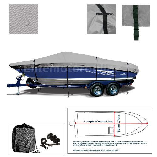small resolution of details about lund 1775 pro v all weather trailerable fishing bass ski jon boat cover grey