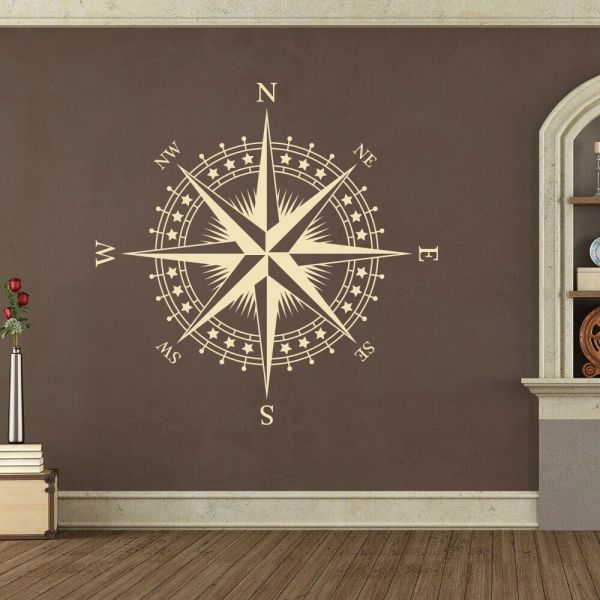 Nautical Compass Rose Ceiling Decal