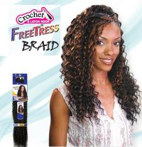 Freetress Premium Synthetic Hair Braid Crochet - Deep ...