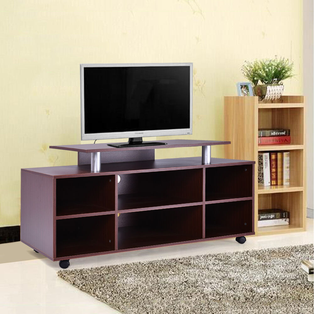 Wheeled TV Stand Entertainment Center Media Console